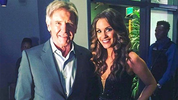 Betty Maxwell with Harrison Ford.