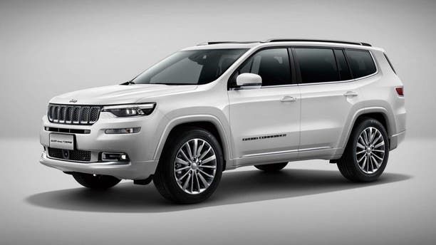 The China-made Jeep Grand Commander may offer a hit at what the carlike three-row SUV will be like.
