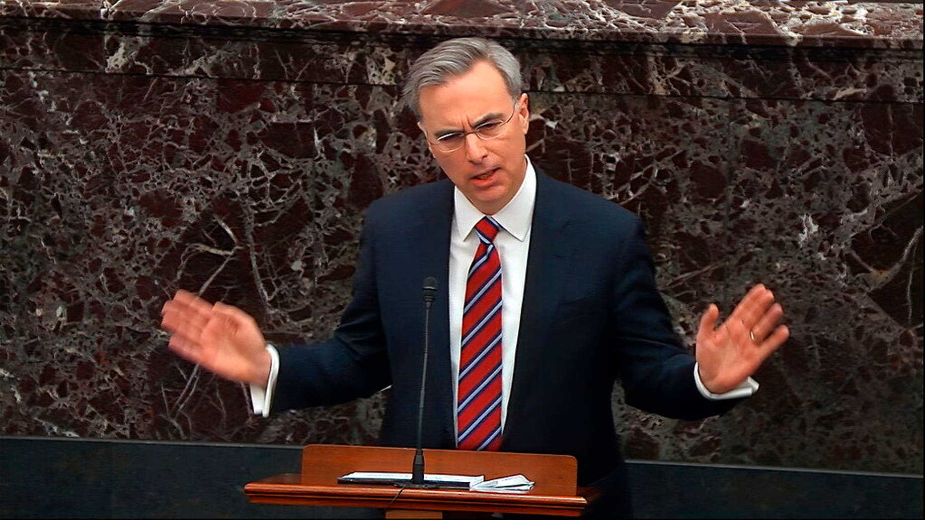 White House counsel Pat Cipollone. (Senate Television via AP)