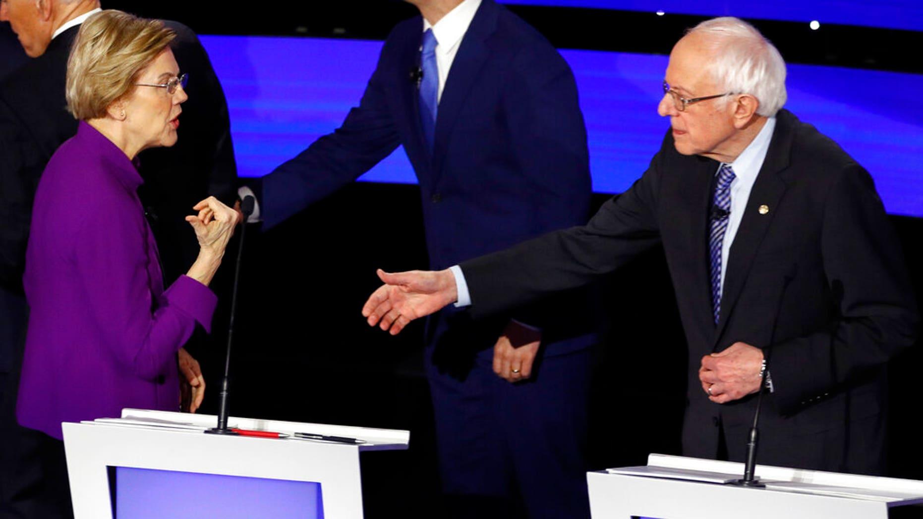 Westlake Legal Group WarrenSandersA_011520 Warren appears to refuse Sanders handshake after clashes over sexism in final Dem debate before Iowa caucuses fox-news/columns/fox-news-first fox news fnc/us fnc article 0b67bdb8-6b98-5249-92ca-958fb439776d