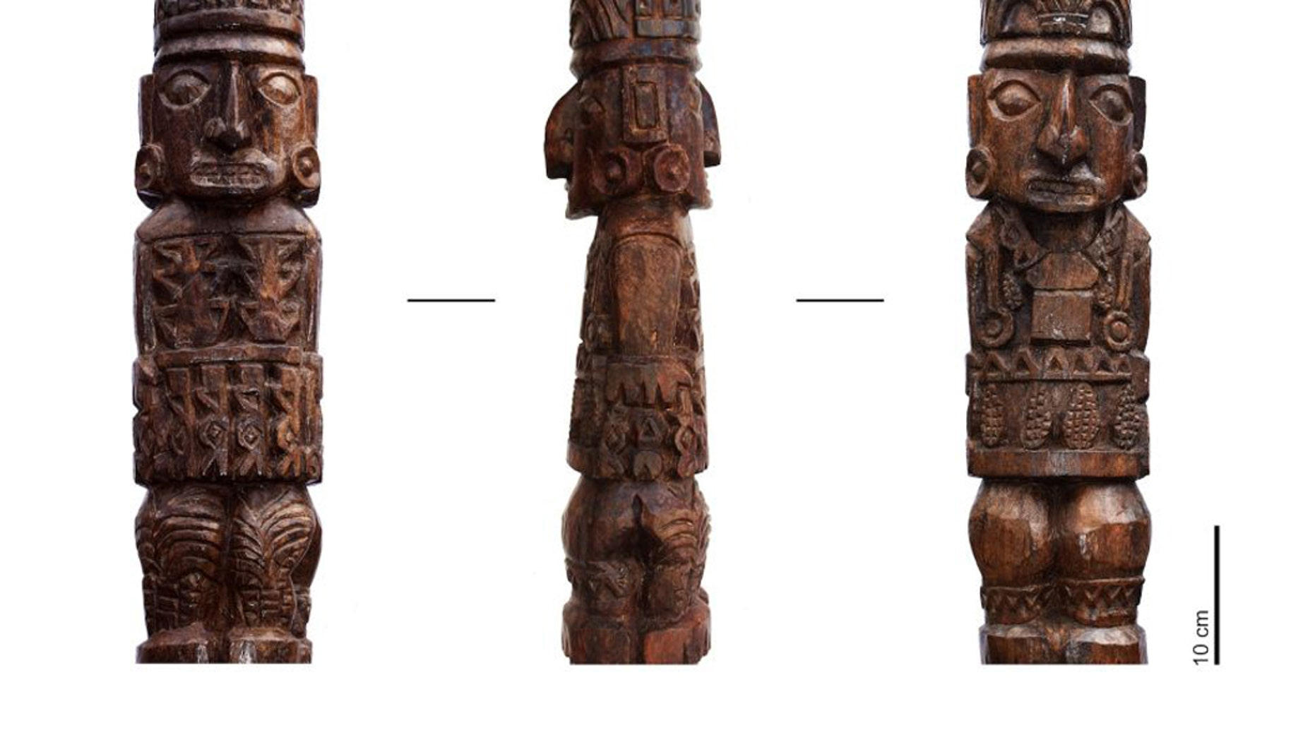 The Pachacamac idol, long thought to be destroyed by the Spanish conquistadors in 1533, was discovered in 1938. (Image: © Sepúlveda et al, 2020; Copyright Project INCA, OPUS Programme, Sorbonne Université)