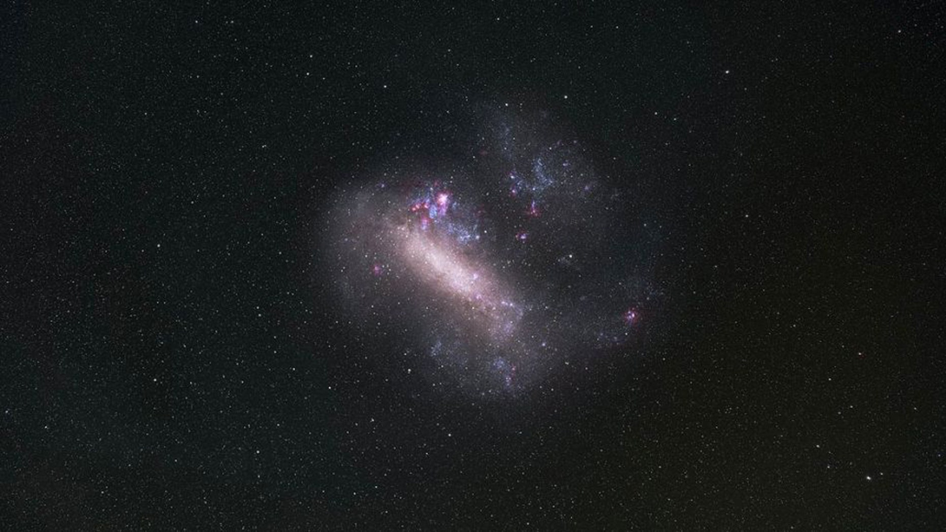 The Large Magellanic Cloud (LMC), one of the Milky Way's closest galactic neighbors, gets a close-up in this image from the European Southern Observatory's La Silla Observatory. (Credit: Zdeněk Bardon/ESO)
