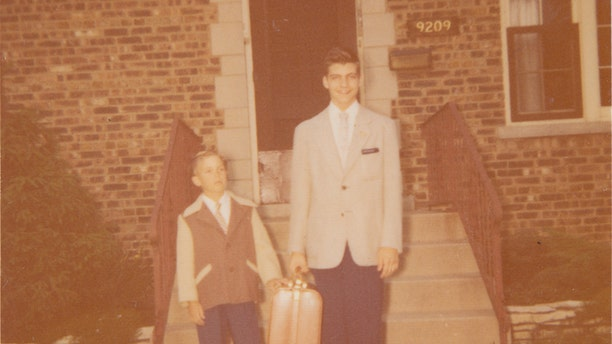 David Kaczynski (left) and his older brother before Ted leaves to Harvard.