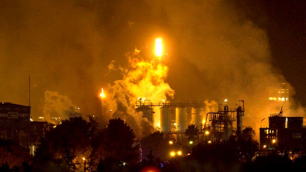Smoke rising after the explosion at the industrial hub near the port city of Tarragona, Spain, on Tuesday.