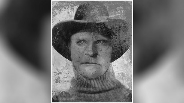 This undated composite sketch shows Joseph Henry Loveless. A man whose headless torso was found in a remote Idaho cave 40 years ago has finally been identified as Loveless, an outlaw who killed his wife with an ax and was last seen after escaping from jail in 1916.  (Anthony Redgrave/Courtesy of Lee Bingham Redgrave via AP)