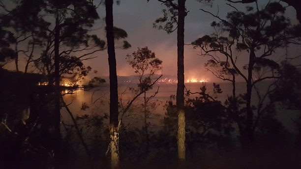 New South Wales, Australia, January 2020: Berrara during the bushfire emergency in January 2020. Extreme temperatures, dry conditions and winds have combined to cause or escalate hundreds of bushfires across five Australian states, in an unprecedented fire season.