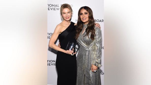 Renée Zellweger and Salma Hayek attend The National Board of Review Annual Awards Gala at Cipriani 42nd Street on January 08, 2020 in New York City. (Photo by Jamie McCarthy/Getty Images for National Board of Review)