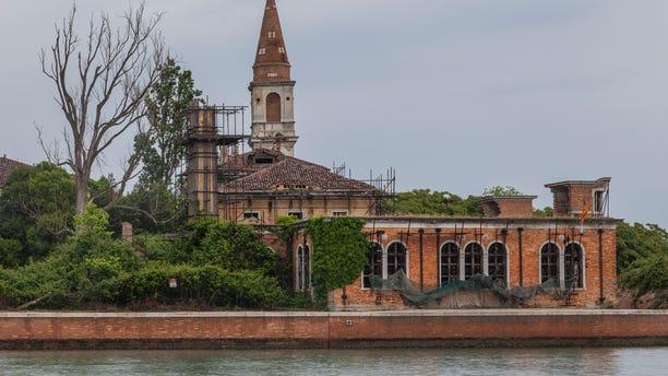 A general view of the 19th century Venetian geriatric hospital in Poveglia island in the Venice lagoon, Italy.
