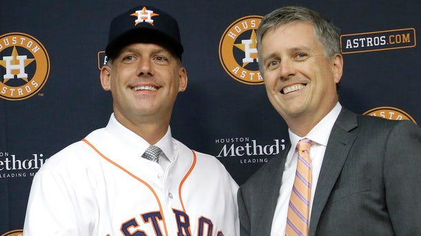 Hinch and Luhnow were fired Monday, Jan. 13, 2020, after being suspended for their roles in the team's extensive sign-stealing scheme from 2017. (AP Photo/Pat Sullivan, File)