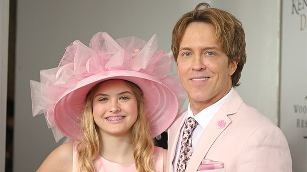 Dannielynn Birkhead and Larry Birkhead attend the 145th Kentucky Derby at Churchill Downs on May 04, 2019, in Louisville, Kentucky.