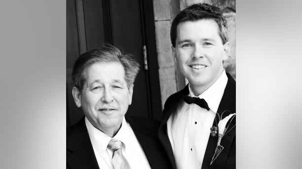The author and his father.