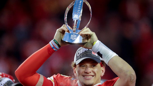 Mahomes is leading the Chiefs to the Super Bowl for the first time in 50 years. (AP Photo/Charlie Riedel)