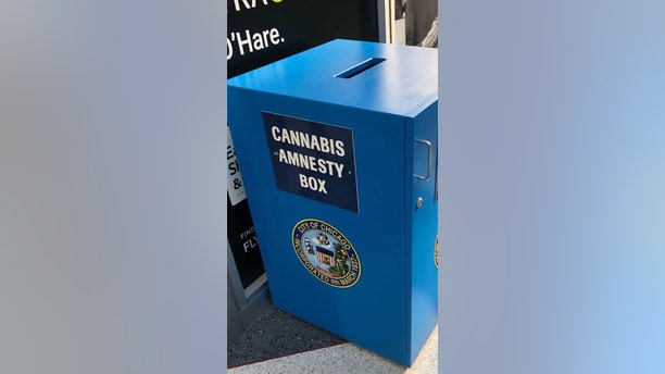 """Police in Chicago say an incoming traveler at Midway Airport managed to steal marijuana from one of the facility's """"Cannabis Amnesty Boxes"""" on Wednesday."""