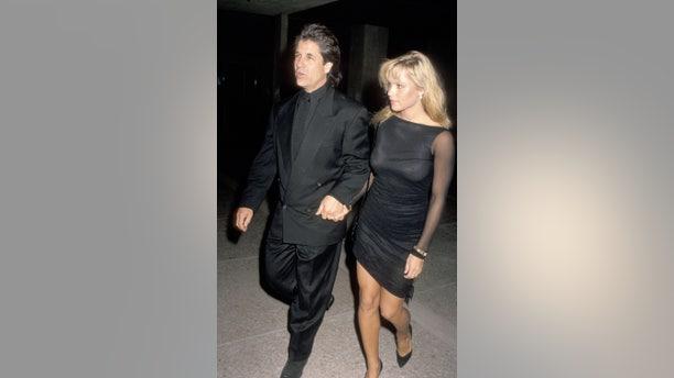 Pamela Anderson and Jon Peters in 1989