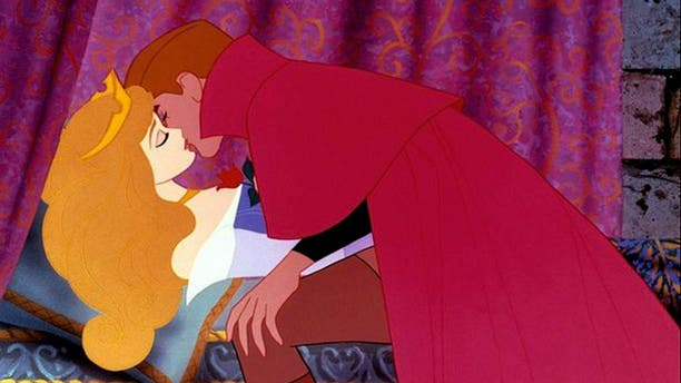"""While Disney's """"Sleeping Beauty"""" fell for the prince who awoke her, one of the movie's super-fans was recently surprised with a marriage proposal from her boyfriend during a showing of the classic flick."""