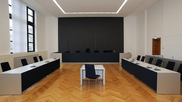 A courtroom in Germany.