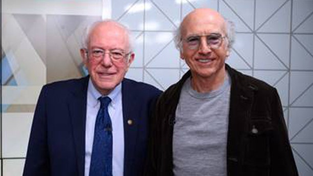 "Bernie Sanders and Larry David came face-to-face on the set of ""Today."""