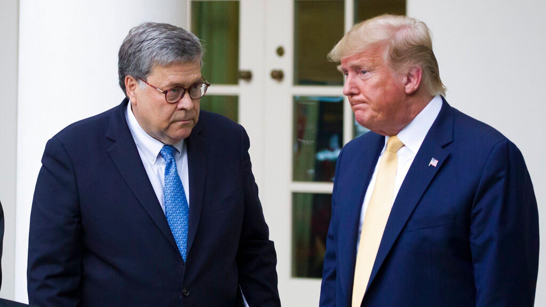 Attorney General William Barr and President Trump (AP Photo/Alex Brandon, File)