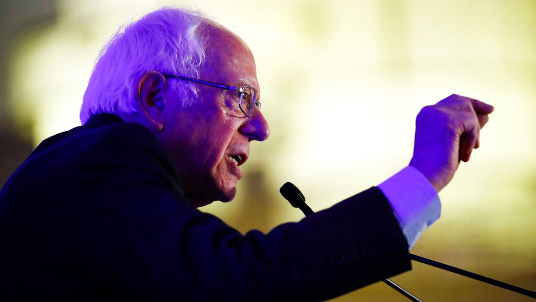 Democratic presidential candidate Sen. Bernie Sanders, I-Vt., speaks during First in the South Dinner in Charleston, S.C. (AP Photo/Matt Rourke)