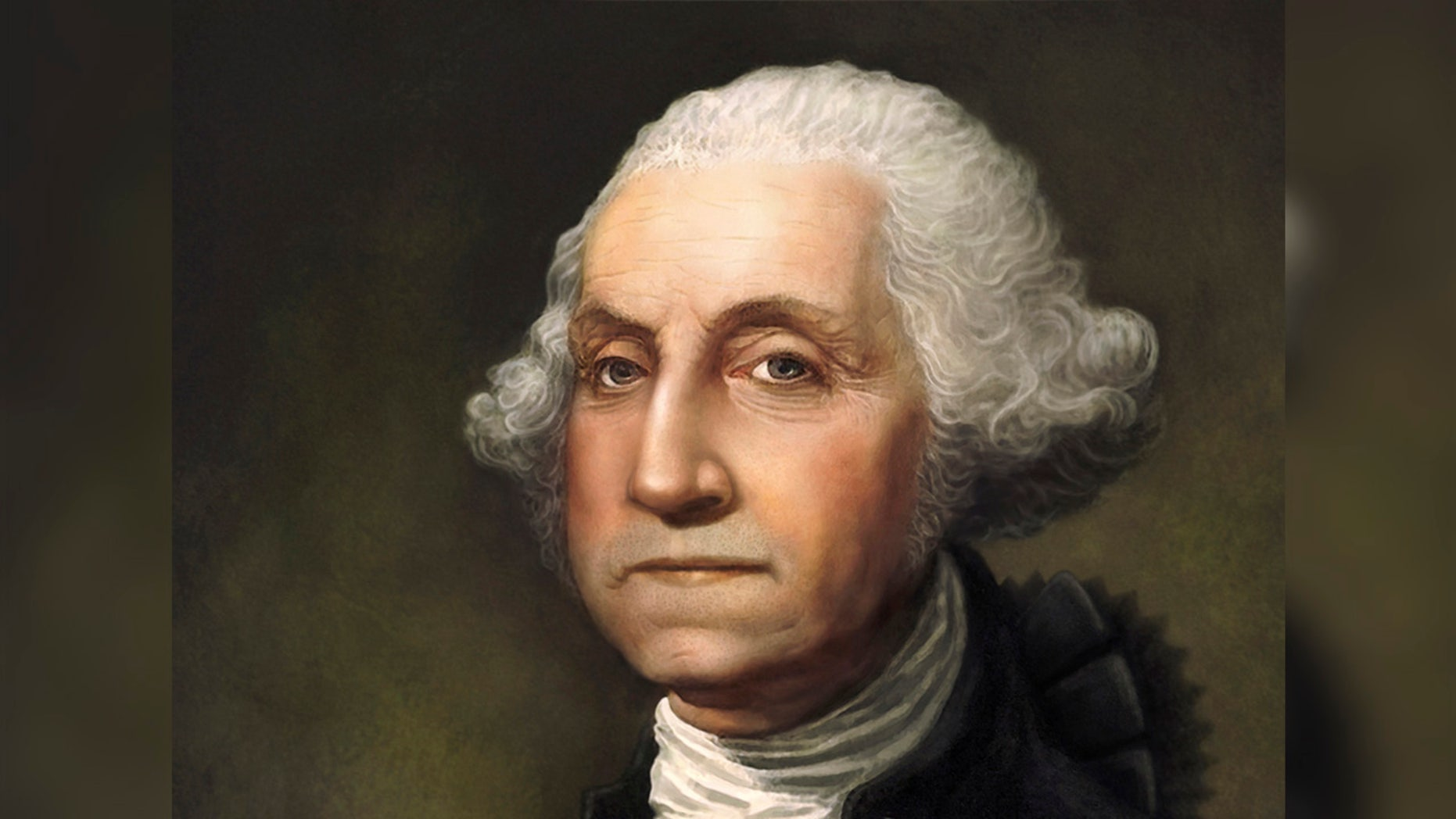 """George Washington Portrait. Original digital painting by Joe Cicak of America's founding father and first president, George Washington. Image created in Photoshop using digital brushes to simulate classic 18th century portrait styles. No scratches, cracks or other mars from age. Looks like a portrait that was just painted.This painting has a full release.See also my illustration of Ben Franklin."""