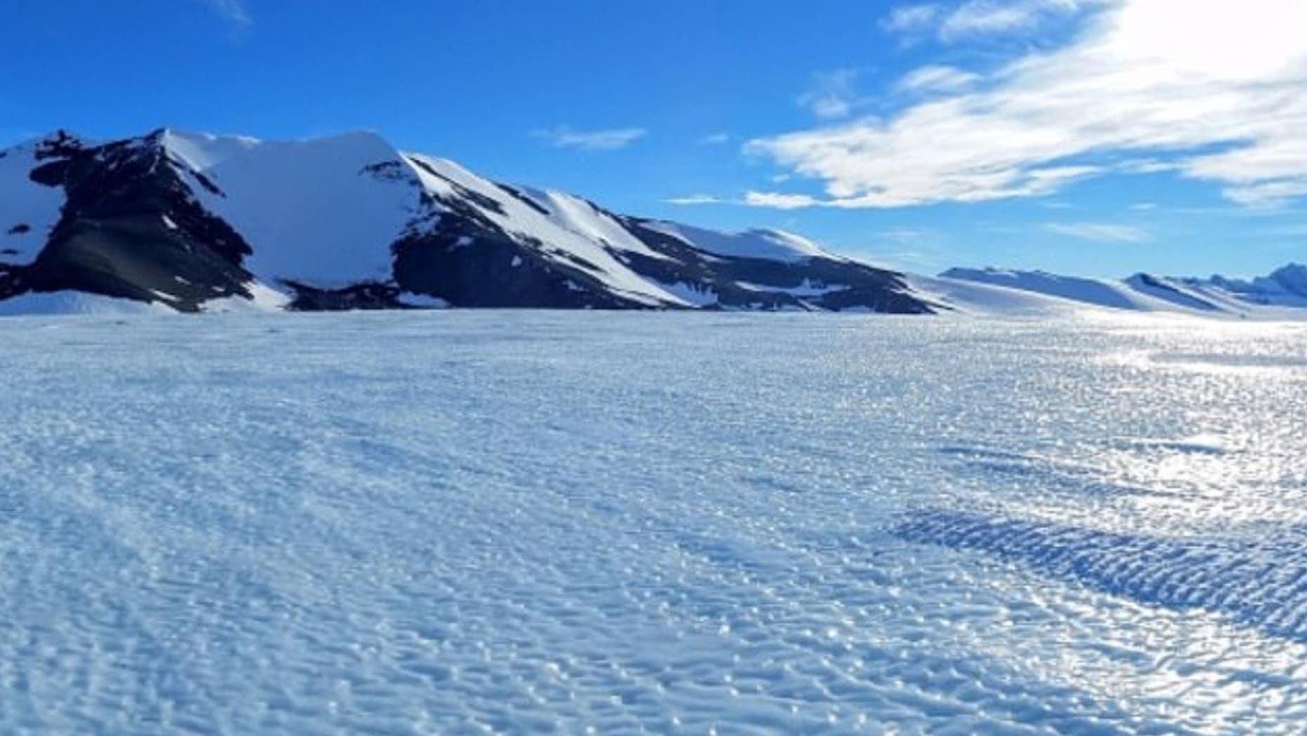 Pictured above, a blue ice area in Antarctica. (UNSW/AntarcticScience.com)