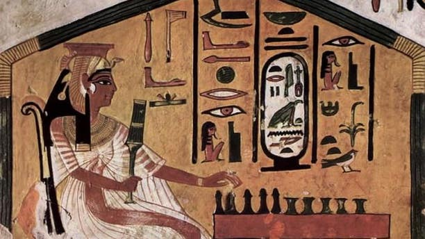 The game, known as senet, was played by Egyptians at all levels of society. Pictured above: Queen Nefertari plays senet in a piece of art inside her tomb.