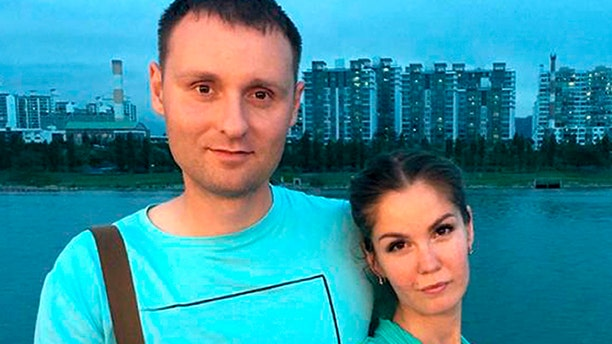 A court in Kamchatka on Friday. Feb. 14, 2020 sentenced Mikhail Popov and his wife Yelena to fines of 350,000 and 300,000 rubles ($5,500 and $4,700) for engaging in extremist activities related to them being Jehovah's Witnesses. (jw-russia.org via AP)