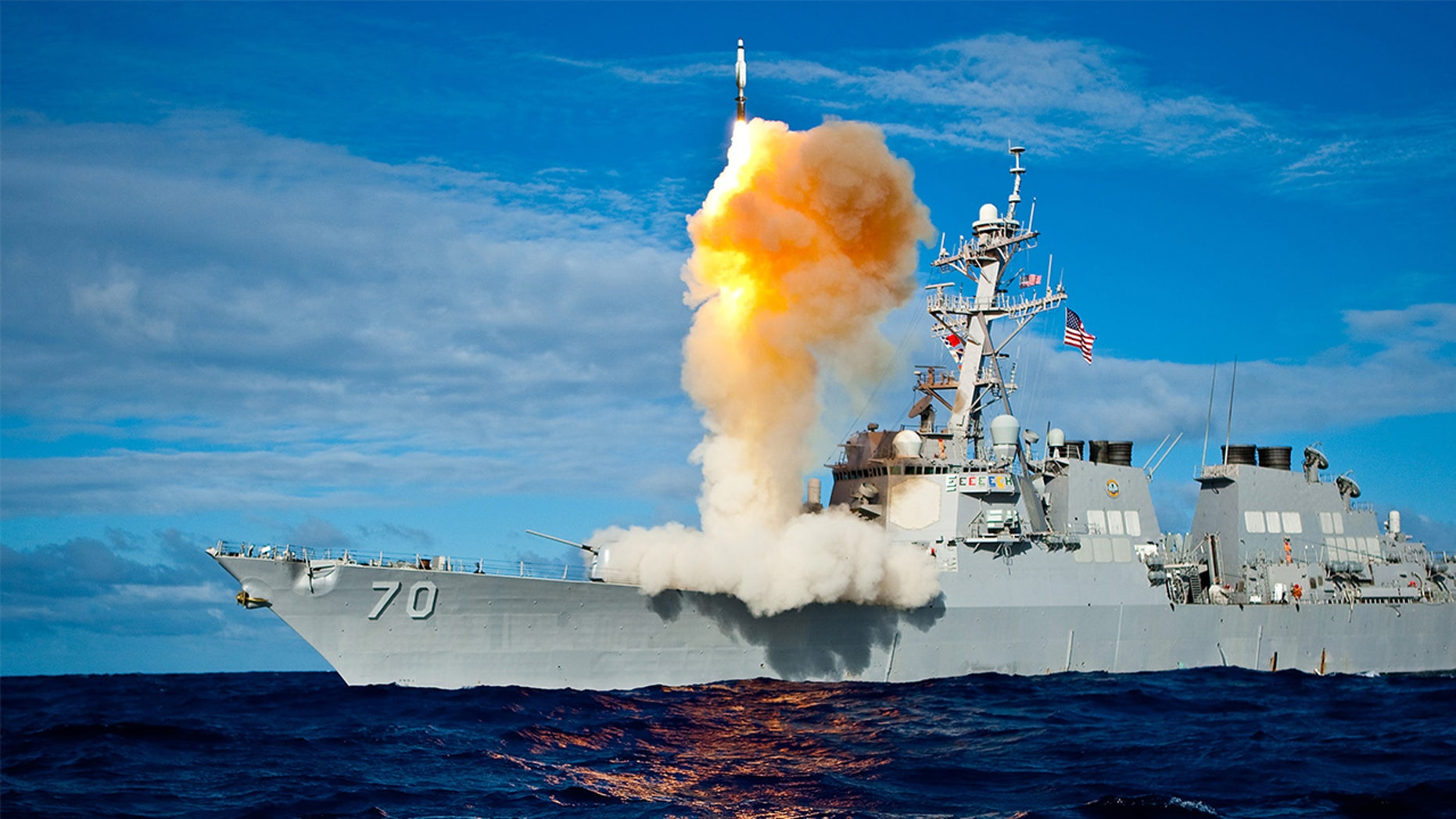 PACIFIC OCEAN (July 30, 2009) During exercise Stellar Avenger, the Aegis-class destroyer USS Hopper (DDG 70) launches a standard missile (SM) 3 Blk IA, successfully intercepting a sub-scale short range ballistic missile, launched from the Kauai Test Facility, Pacific Missile Range Facility (PMRF), Barking Sans, Kauai - file photo. (U.S. Navy photo/Released)