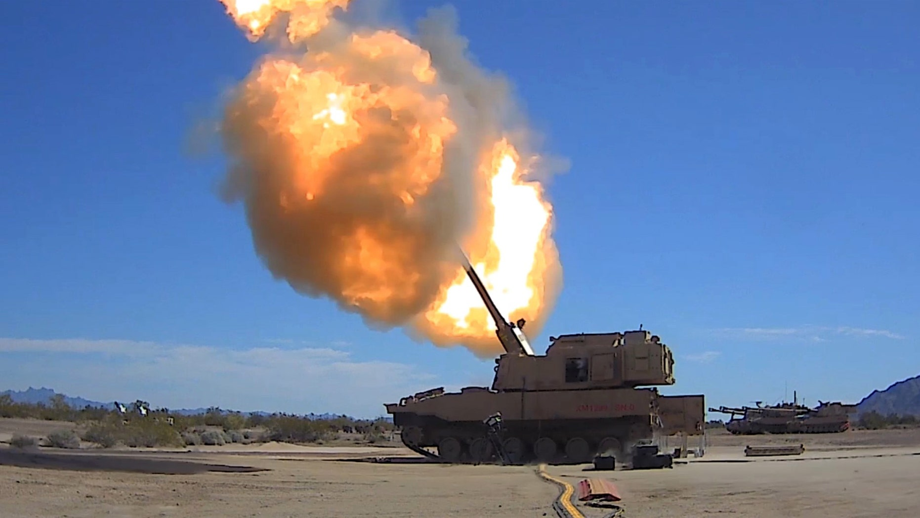 U.S. Army photo of the firing March 6 at Yuma Proving Grounds, Ariz. (U.S. Army)