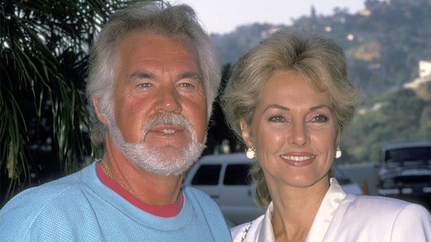 Musician Kenny Rogers and wife Marianne Gordon attend the NBC Fall TCA Press Tour on July 29, 1991 at Universal Hilton Hotel in Universal City, California. (Photo by Ron Galella, Ltd./Ron Galella Collection via Getty Images)