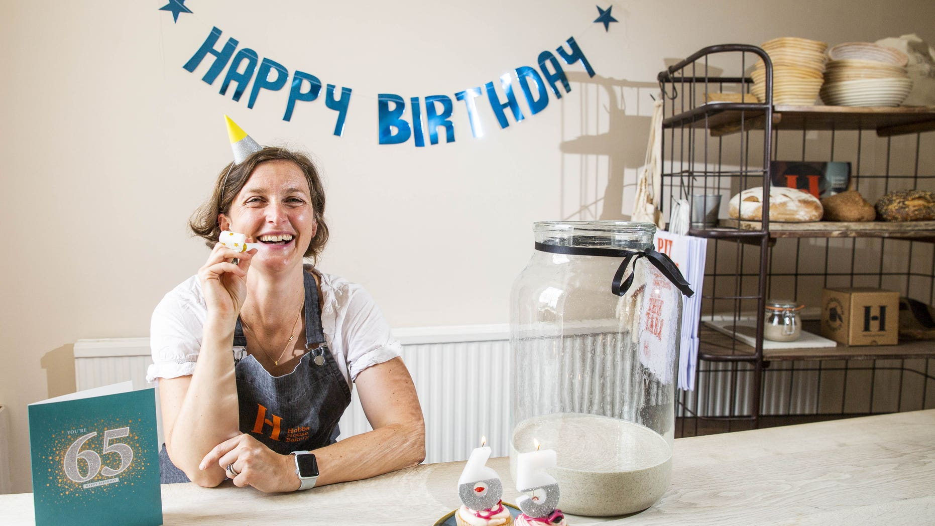 Anna Herbert at Hobbs House Bakery threw a party for their 65-year-old Sourdough starer.