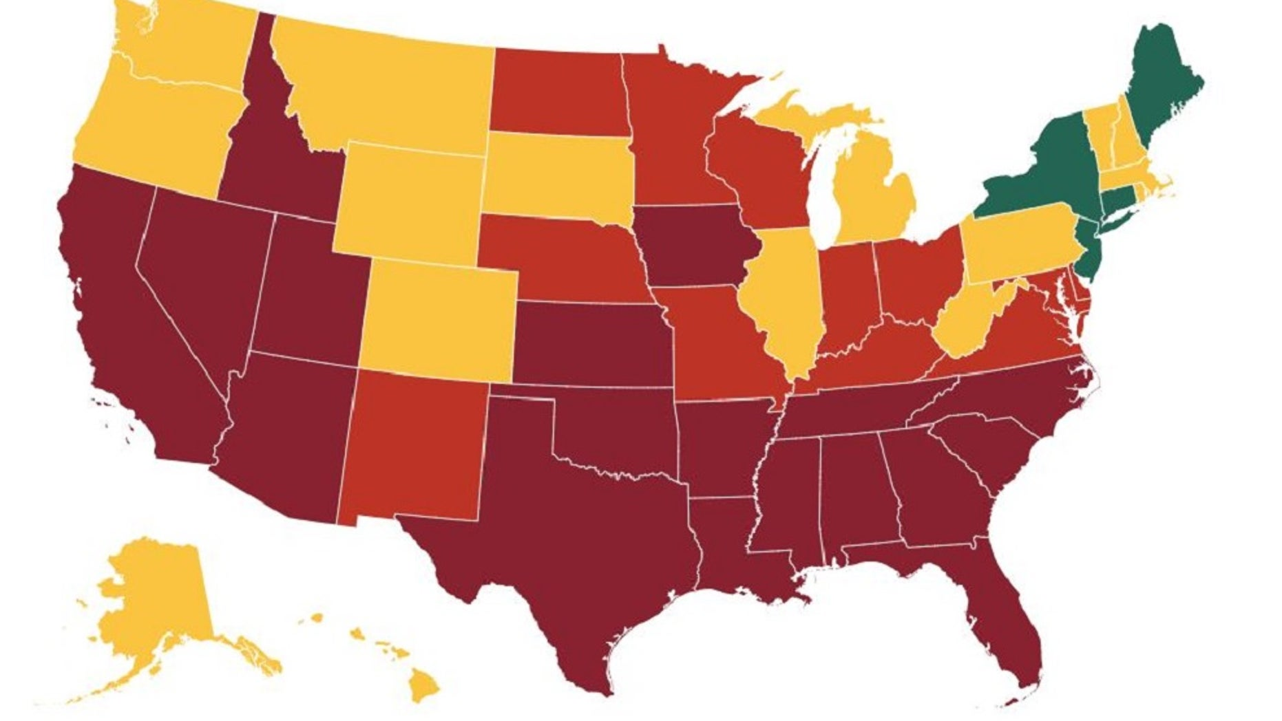 Picture of: New Coronavirus Map Shows Grim Trend For More Than Half Of All Us States Fox News