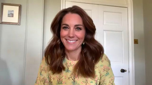 Catherine, Duchess of Cambridge during a May 7 interview in London, England. The royal recently debuted a new haircut and color during her latest appearance.