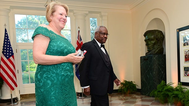 U.S. Supreme Court Justice Clarence Thomas arrives with his wife, Ginni Thomas, for a State Dinner for Australia's Prime Minister Scott Morrison at the White House in Washington, U.S. September 20, 2019.