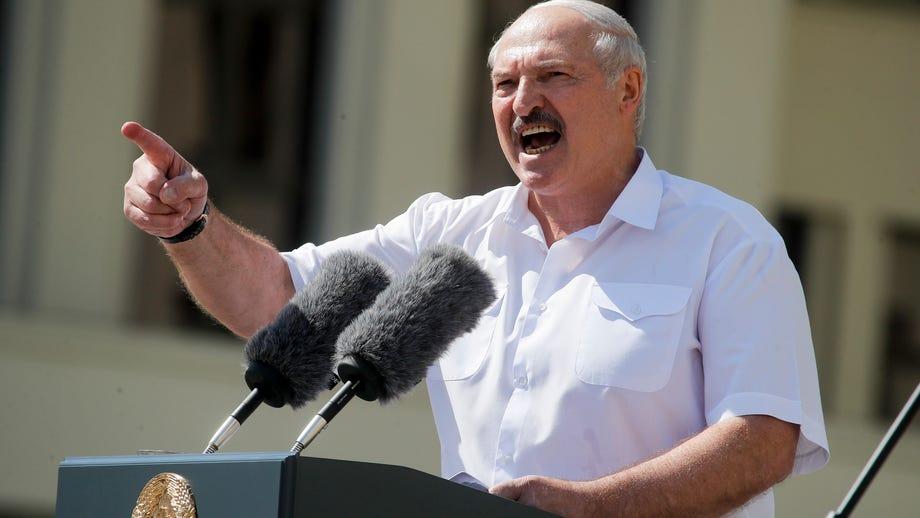 Despite protests, Belarus president Lukashenko swears himself in in secret ceremony