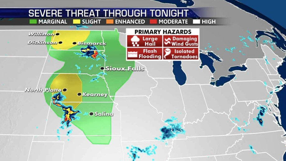 Severe weather threat for Plains as heat grips country, fuels wildfire threat out West