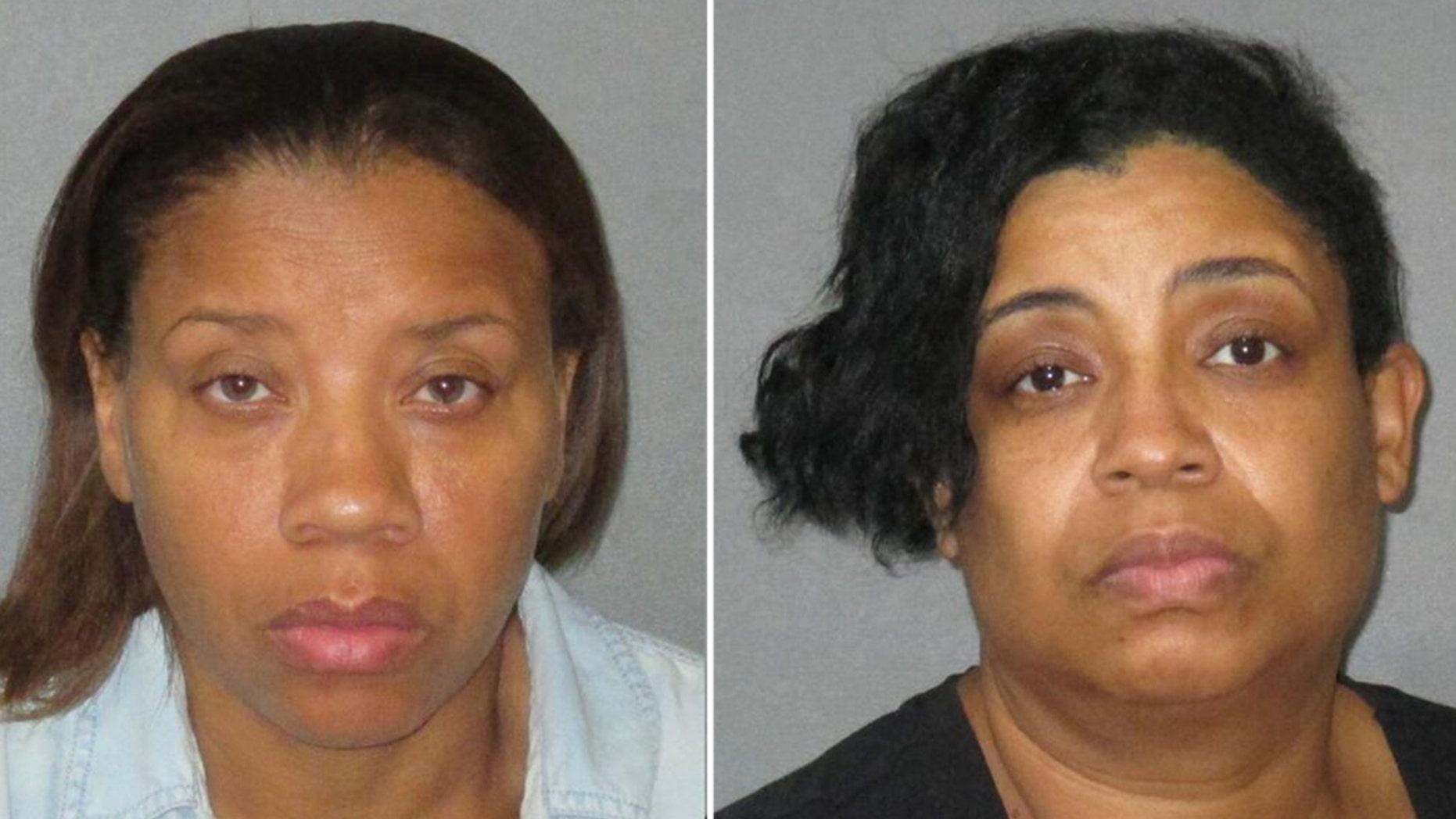 Mugshots for Tammy Dabney, left, 48, and Erica Dabney, 46.
