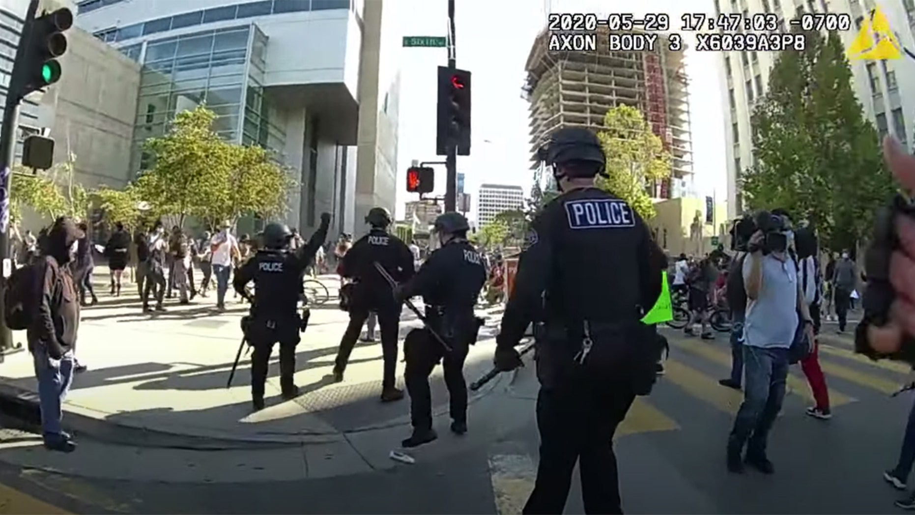 San Jose police released bodycam video Friday shot during George Floyd protests in May.