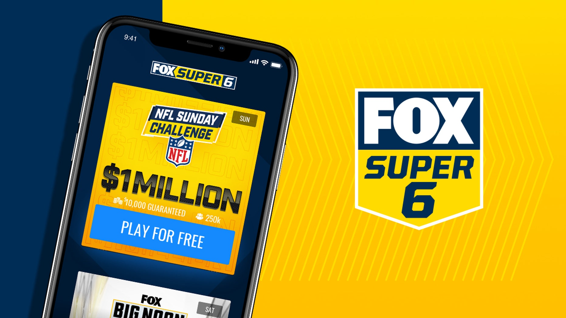 Fox Super 6: NFL 주간 11 picks with $  1 million up for grabs