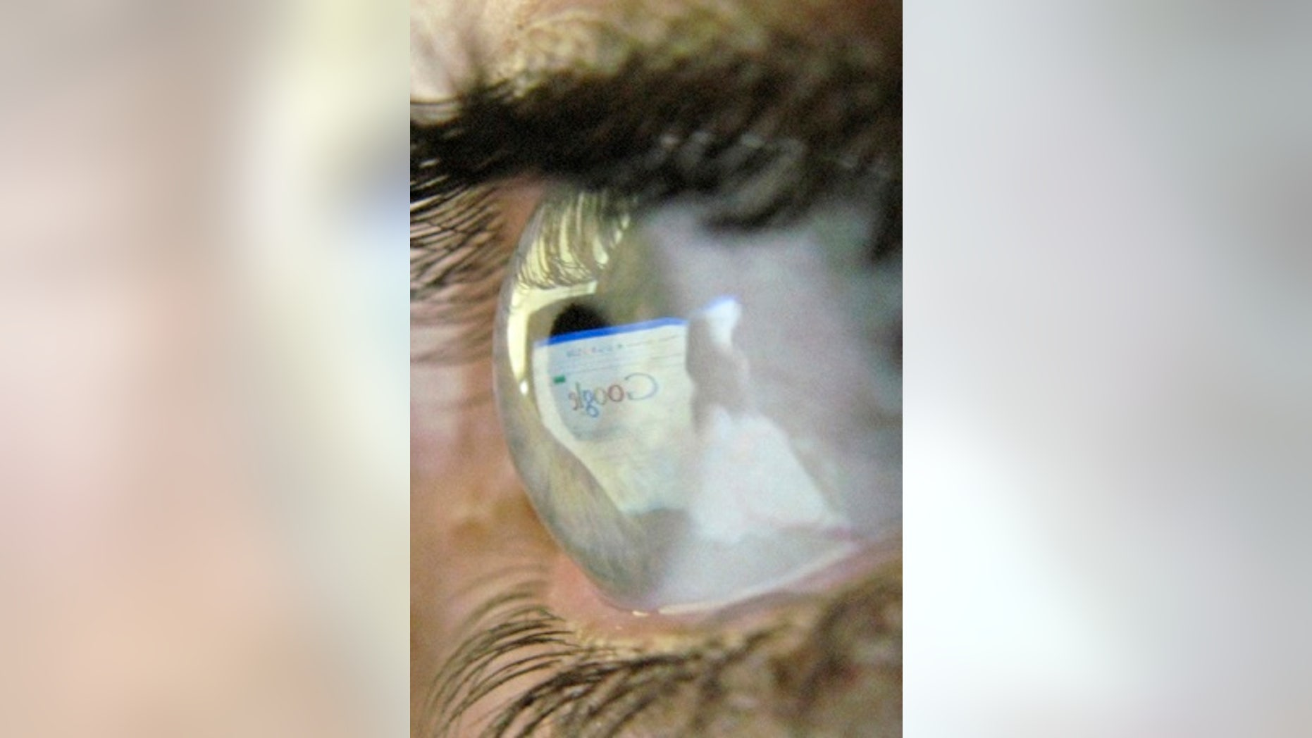 File photo - A Google search page is reflected in the eye of a computer user in Leicester, central England, July 20, 2007.