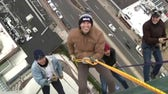 Will Cain rappels from one of the tallest buildings in Connecticut