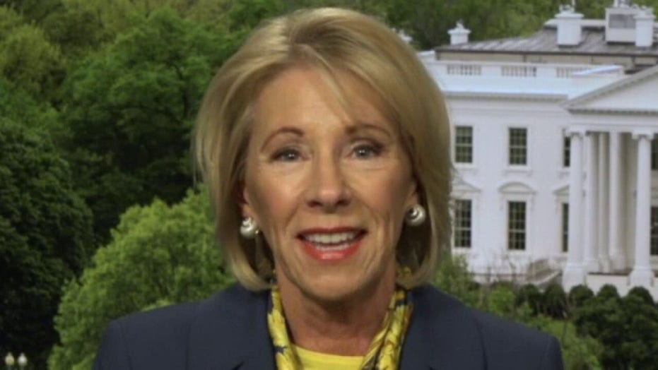 Betsy DeVos says there is no 'perfect option' to safely return students to classrooms in COVID-19 era