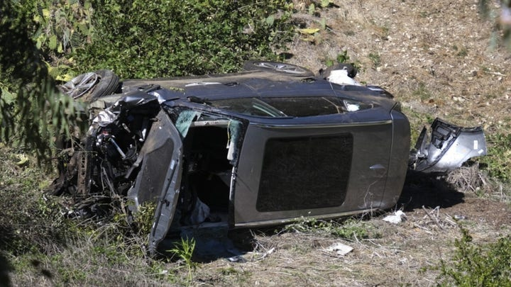 Tiger Woods SUV moving at 'high rate of speed' before rollover: Report