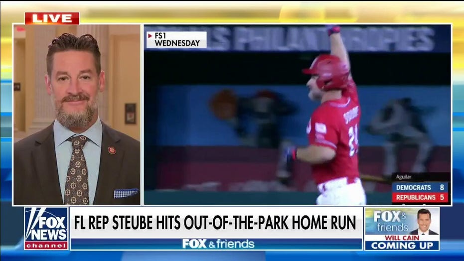 Greg Steube tells 'Fox & Friends' his favorite part about home run blast in Congressional Baseball Game