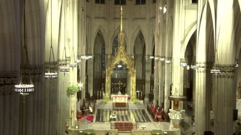 Sunday Mass takes place from St. Patrick's Cathedral