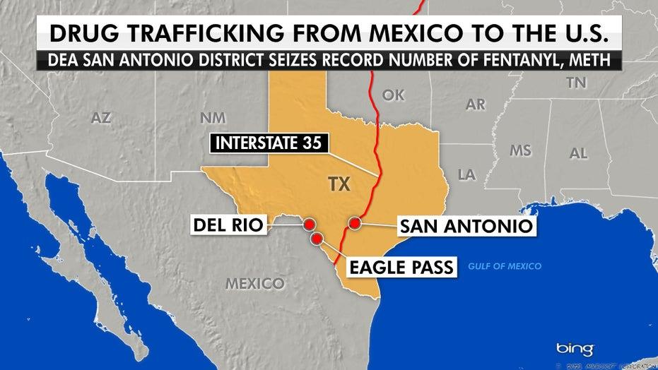 Drug seizures of fentanyl, meth see uptick along southwest border: DEA