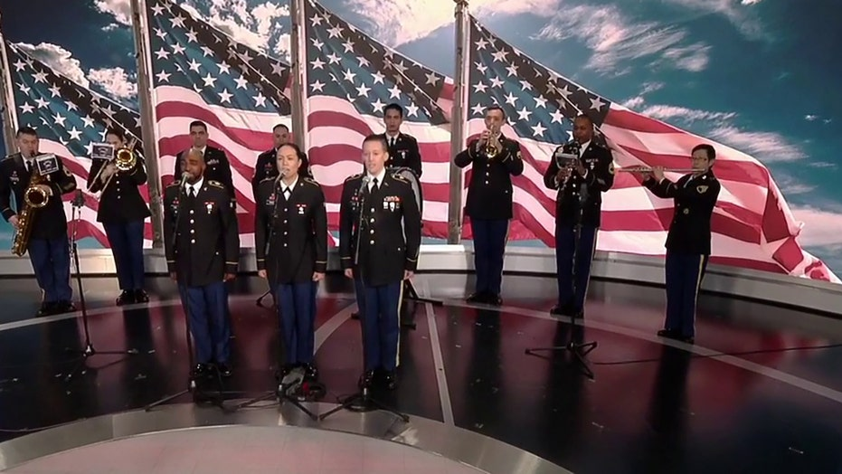 78th Army Band performs 'Star-Spangled Banner' for National Anthem Day