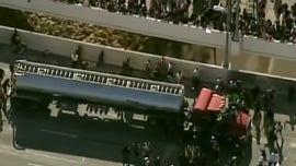 Semitrailer speeds toward crowd of George Floyd protesters on Minneapolis bridge; driver arrested