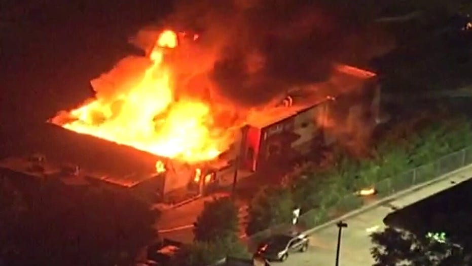 Wendy's restaurant burns in Atlanta following officer-involved shooting of 27-year-old Rayshard Brooks