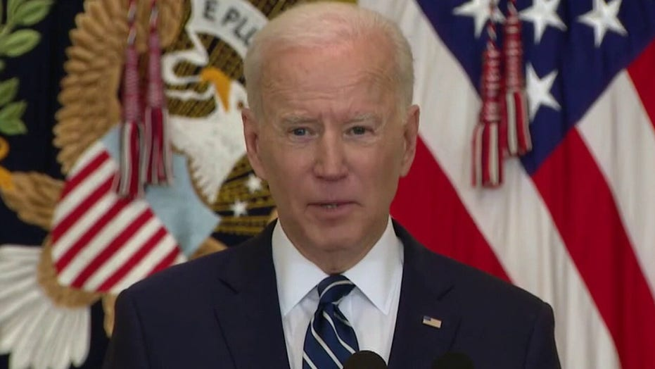 Biden pressed on lack of transparency at press conference